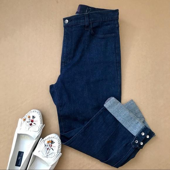 NYDJ Denim - NYDJ Cuffed Cropped Jeans Crystal Blink Dark Wash